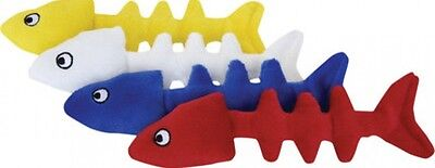 "1 - Loopies Catnip Fish Bone 7"" Cat Toy Upick Color. Free Shipping In The Usa"
