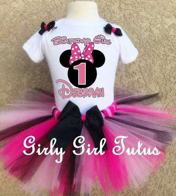 Minnie Mouse 1st Birthday Outfit.Baby Girl Minnie Mouse 1st Or 2nd Birthday Outfit Tutu Dress