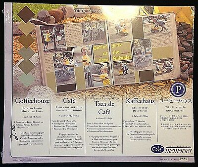 Creative Memories, Coffeehouse 10 X 12 Printed Photo Mounting Paper Pack, New