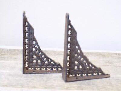 2 Antique Style Shelf Brace Wall Bracket Cast Iron Brackets SMALL 5 x 4 Restore