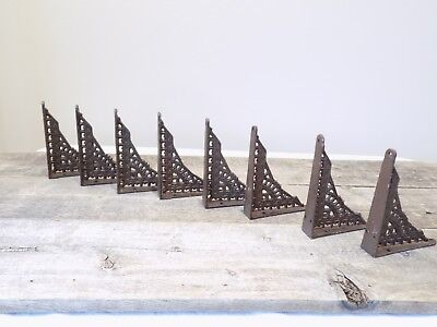 8 Antique Style Shelf Brace Wall Bracket Cast Iron Brackets SMALL 5 x 4 Restore