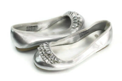 0be7383fefd9 GYMBOREE GIRL S SILVER Slip On Round Toe Ballet Flats US Size 12 ...