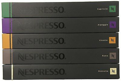50 Capsules Nespresso Coffee Variety Pack Mixed Pod - Top 5 Popular