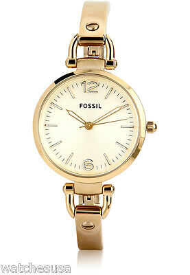 a650c492579 FOSSIL WOMEN S GEORGIA Gold-Tone Stainless Steel Watch ES3084 ...