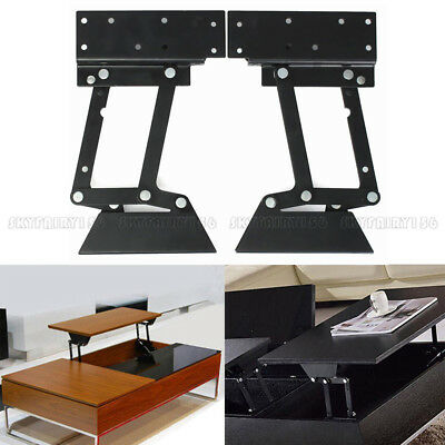2pcs Coffee Table Lifting Frame Mechanism Lift Up Gas Hydraulic Furniture  Hinge