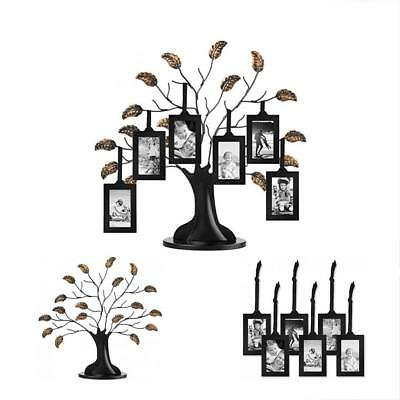 BRONZE FAMILY TREE Frame with 6 Hanging Picture Frames Each Sized 2 ...
