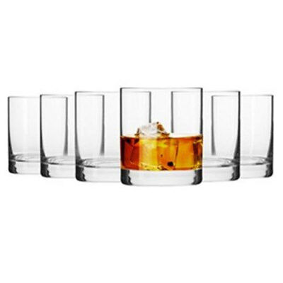 Krosno Mirage 6 x 300ml Whisky/Rum/Scotch/Gin Tumblers High Quality Glasses Set