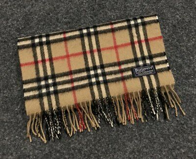 Auth Burberry London Cashmere Vintage scarf Made in England Classic 027