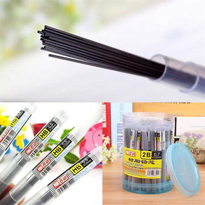 2 HB/2B Black Lead Refills 0.5/0.7mm Case For Automatic Mechanical Pencil