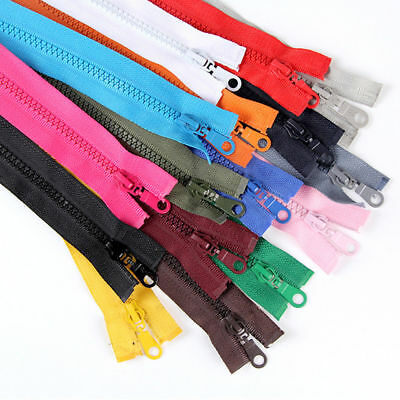 "27""/70cm Colorful Teeth Zipper Separating Zips Open End DIY Clothes Sewing Acces"
