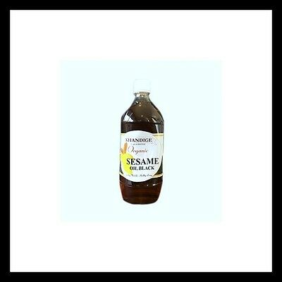Black Sesame Seed Oil Certified Organic Khandige 100% Pure 500ml Exp: 01/2020
