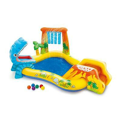 Intex 57444 Play Center Dino Planschbecken Pool Wasserrutsche Wasserfall