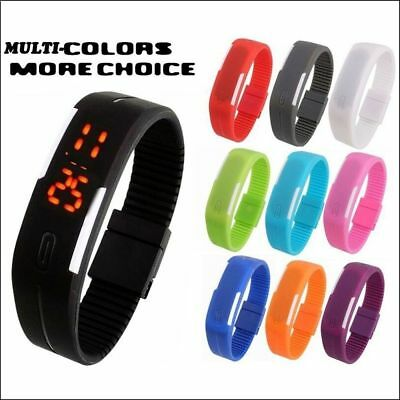 HOT Touch Screen LED Digital Silicone Sport Wrist Watch Men Women Bracelet Watch