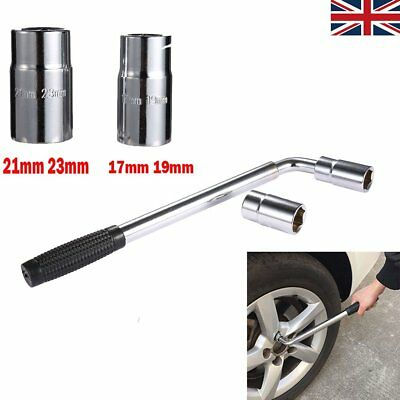 Extendable Telescopic Wheel Brace Wrench Car Van Socket Tyre Nut 17 19 21 23mm