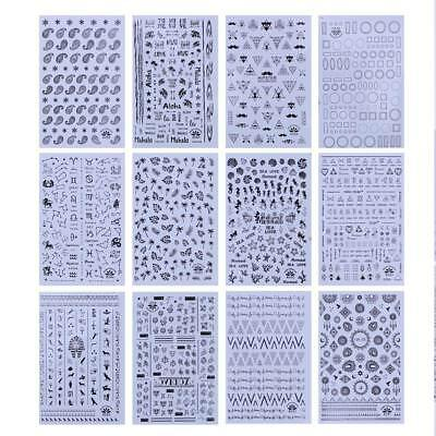 50pcs 3D Beauty Nail Art Sticker Water Transfer Decoration DIY Flower Decal Tips