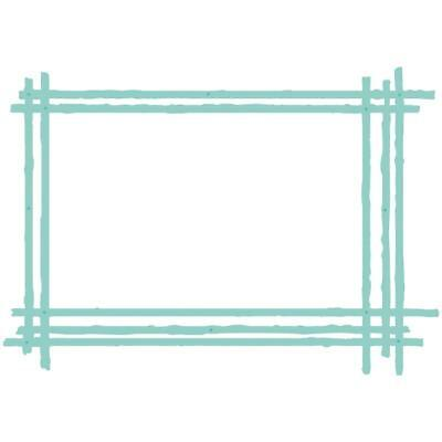 Kaisercraft Die Set - SKETCHED RECTANGLE FRAME - use in most machine - DD812