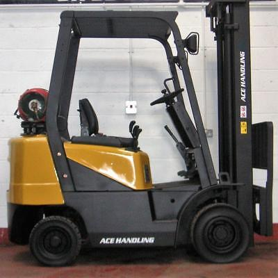 HIRE this DOOSAN G20SC-2 2000kg Gas Forklift for 44.99pw Forktruck AH440H