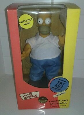 The Simpsons Rare 2002 mint Large Talking and Dancing Homer Simpson