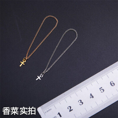 """Custom 1:6 Scale Cross Pendant Necklace  For 12"""" Female PH UD Body Doll"""