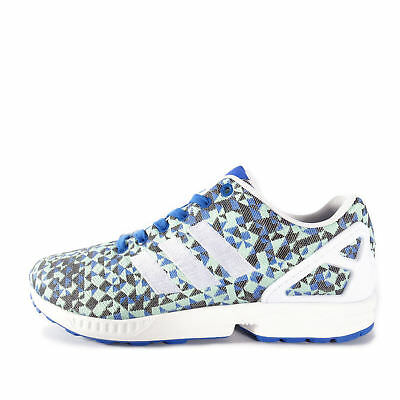 805d9e30f2f8c Adidas Originals ZX Flux Weave Mens Trainers Running Shoes White B34474  U100 Athletic Shoes