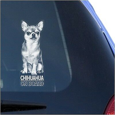 Chihuahua Clear Vinyl Decal Sticker for Window, Chiwawa Dog Sign Art Print New