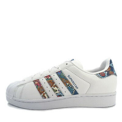 f433443126cc Adidas Originals Superstar W  BY9177  Women Casual Shoes White White-Teal