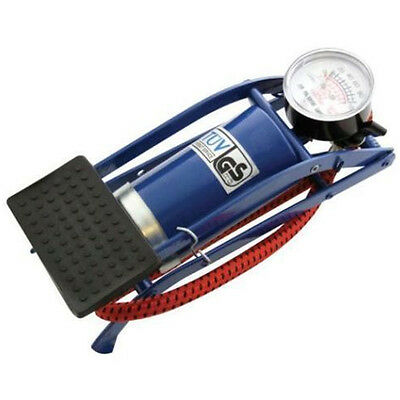 New Single Barrel Cylinder Air Inflator Foot Pump Car Van Bicycle Bike Tyre