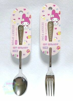 New SANRIO My Melody KAWAII Dessert Spoon and Fork Made in JAPAN Strawberry