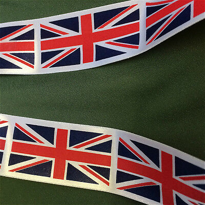 Union Jack Ribbon by Berisfords 35mm Wide - Free UK Post