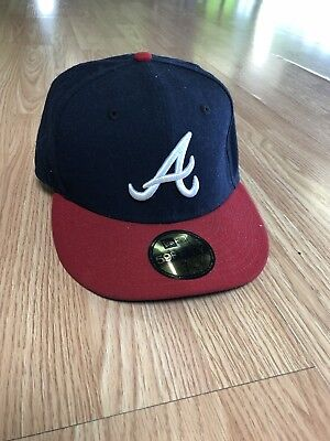 super popular f6927 3aae1 ... sale atlanta braves fitted new era hat cap 7 1 8 made in usa blue w