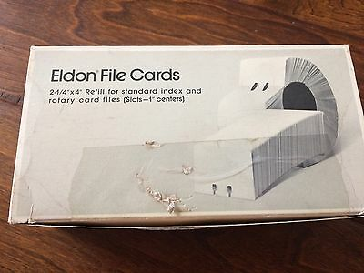 """Eldon file cards -rotary Card File box of 1000 refill 2-1/4"""" x 4"""" 1624-0 white-"""