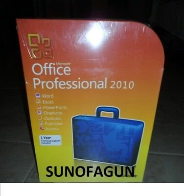 Microsoft Office 2010 Professional 32/64 Bit Retail for 2 PC w. ORIG MS USB