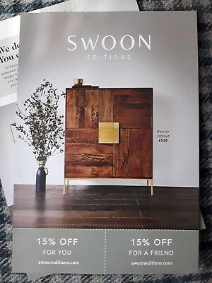 £15% OFF your 1st order when you spend £250 Swoon Editions Voucher Code