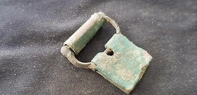 Superb Post Medieval copper alloy buckle and plate, please read description L98y