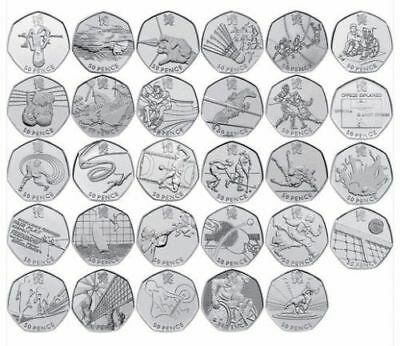 50P Olympic Circulated Coins 2011 Choose From The List For Olympic Games 2012