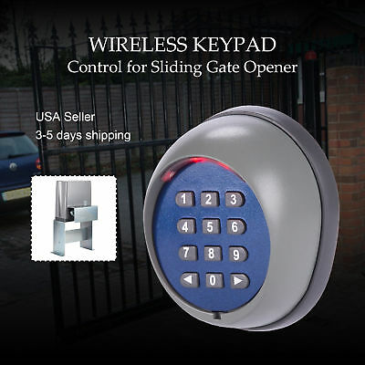 Wireless Cordless Security Keypad Fit Sliding Gate Door Opener Operator