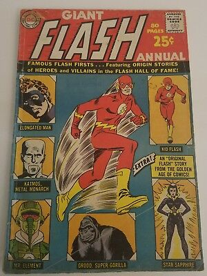 Flash Annual #1 in Good/Very condition (1963) Origin Stories of Heros and Foes