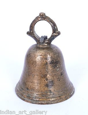 Nice Antique Indian Handcrafted High Aged Brass ritual Bell, Good Sound. i9-5