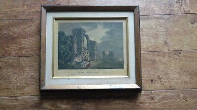 1778 Engraving ST MARY'S ABBEY YORK London HAND COLORED ORIGINAL Hearne & Byrne