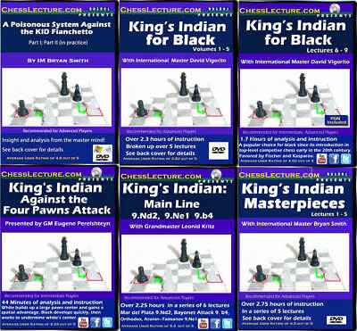 USCF Sales The Definitive King's Indian Defense Collection - 6 DVDs - Chess Lect
