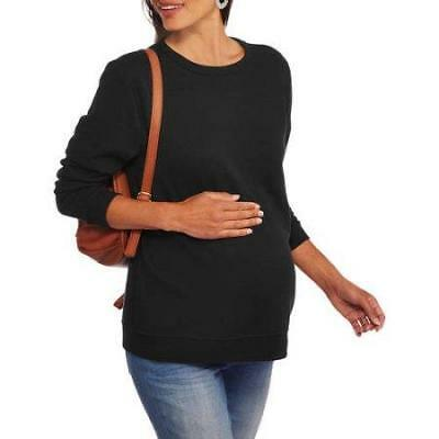 Maternity Sweatshirt Black Super Soft NWOT NEW 1X 2X