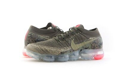 factory authentic f4e34 f6f05 AH8447-201 NIKE MEN Air Vapormax Flyknit C Neutral Olive Cargo Khaki