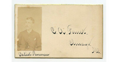 Early Photo Business Card, Faust, Chicago, Il