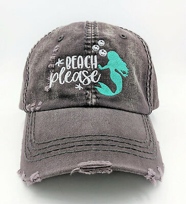 Womens Mermaid Baseball Cap - Mermaid Hat - Mermaid Gift - Mermaid Clothing