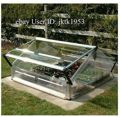 Cold Frame Double Miniature Greenhouse Aluminum Frame UV Protected Polycarbonate