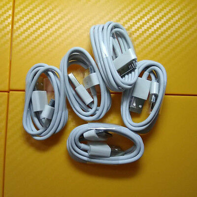 5x 30 Pin USB Data Cable Charger For Apple iPhone 3GS 4 4S 4G iPod