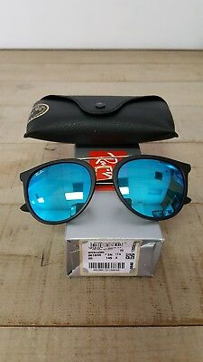 9a64fec4b1 Ray-Ban Injected Unisex Sunglasses 0Rb4285 Matte Black 601S55 145 Size 55