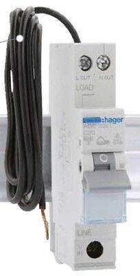 Hager Electrical  HAGER ADC320T | RCBO 20Amp 1P&N 6kA C Curve 30mA Type A.