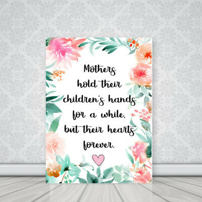 Mother/Mom Holding Hands Quote Picture Canvas Print BUY 3, GET 1 FREE