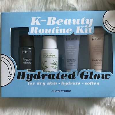 NEW K-Beauty Glow Studio Hydrated Glow Routine Kit Korean Skincare